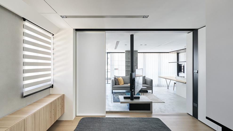 Un estudio de lujo de 46 metros cuadrados dise ado por for Mini casa minimalista