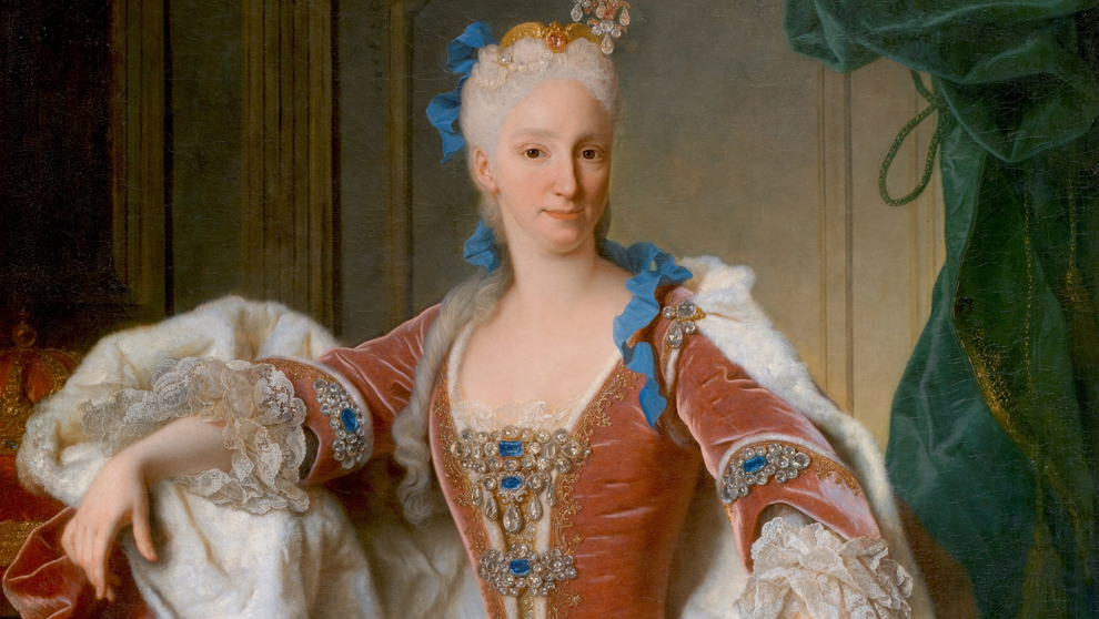 Retrato de la reina Isabel de Farnesio (1692-1766), por Jean Ranc, en...