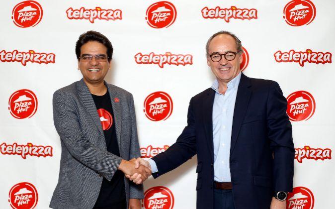 Acuerdo entre Telepizza y Pizza Hut. En la imagen, Milind Pant,...