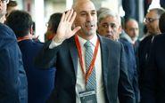 Luis Rubiales a su llegada a las elecciones a la RFEF en la Ciudad del...