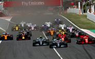 Salida del Gran Premio de España.
