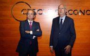 Pere Viñolas, consejero delegado, y Juan José Brugera, presidente de...