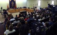 Imagen de la rueda de prensa celebrada en los juzgados de Plaza de...