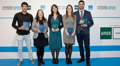 Alumnos premiados por la Cátedra AQUAE.