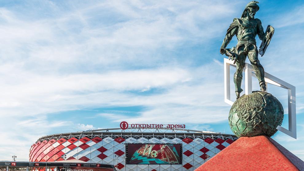 Vista del Otkrytie Arena, donde se jugarán partidos del Mundial de...