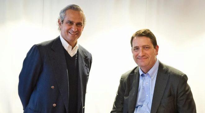 Terry von Bibra, director general de Alibaba en Europa, y Rodrigo...