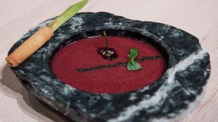 Gazpacho elaborado por María Marte con Thermomix.