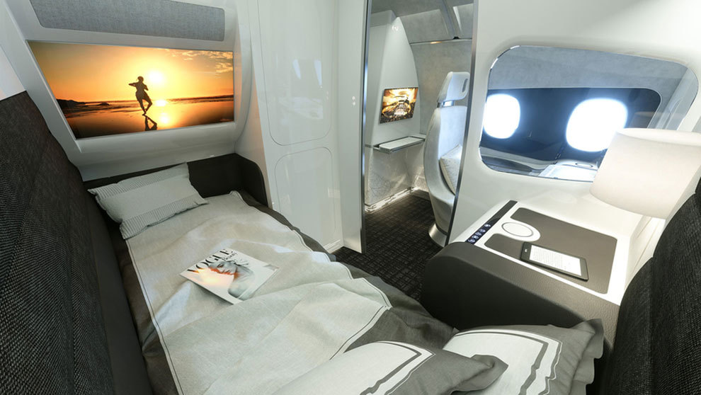Imagen de la cabina Day&Night que pondrá en funcionamiento Airbus...