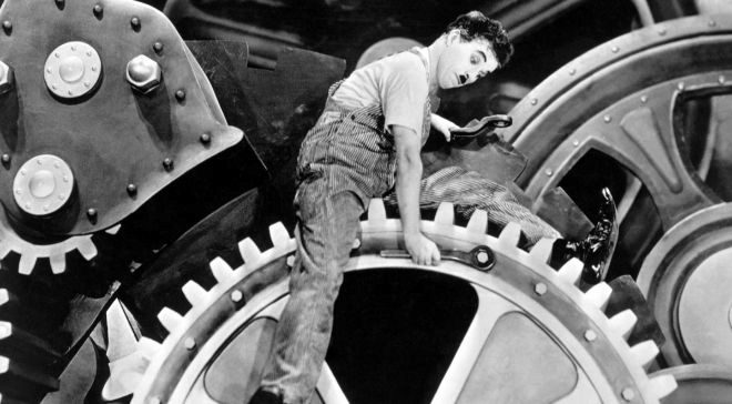 Charles Chaplin satirizaba en la película 'Tiempos...