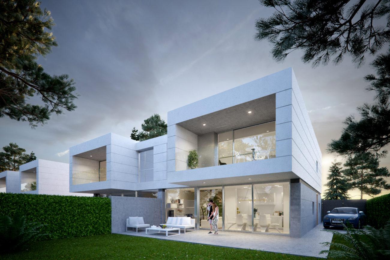 Promoción de 48 unifamiliares pareados, con estilo arquitectónico...