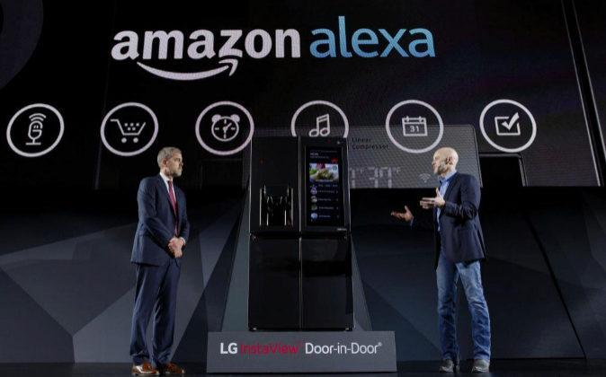Presentación de Amazon Alexa en el CES de Las Vegas a cargo de David...
