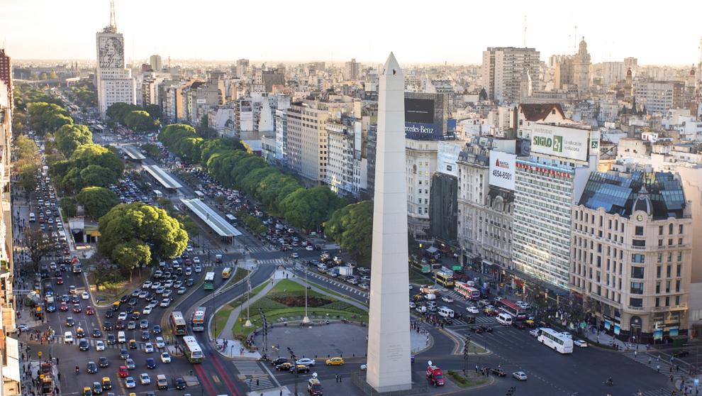El Obelisco,  icono porteño, Buenos Aires Argentina.