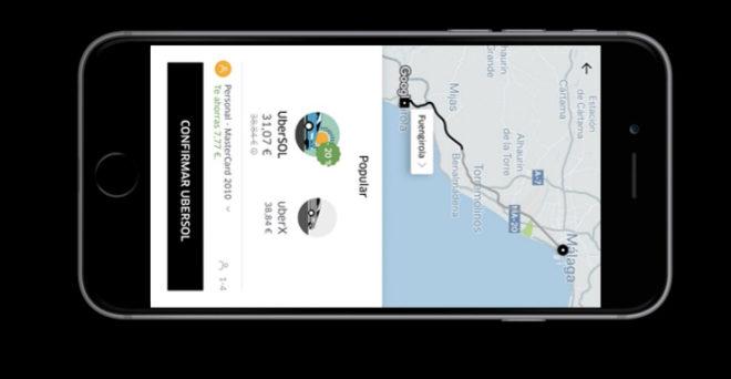 Uber inicia este martes sus operaciones en la Costa del Sol