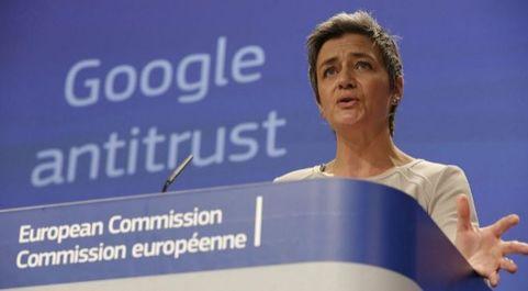 La comisaria europea de Competencia, Margrethe Vestager.