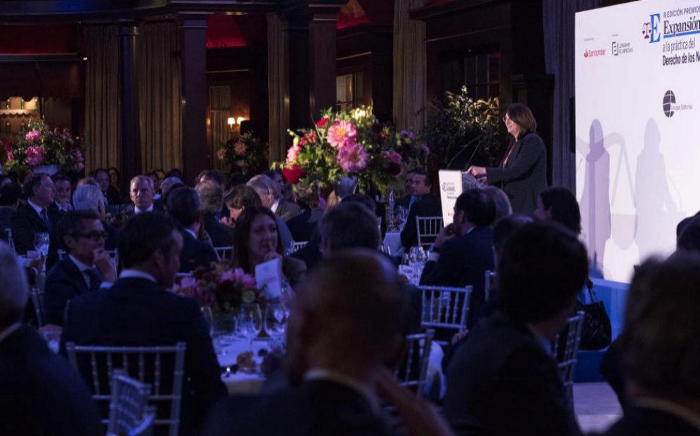 Imagen de la gala de los III Premios Expansión Jurídico.