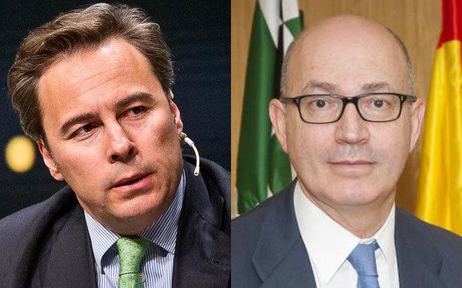 Dimas Gimeno, presidente del El Corte Inglés (izquierda) y Jesús...