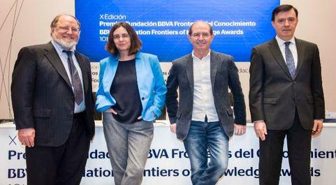 Los galardonados con el Premio Fronteras del Conocimiento en...