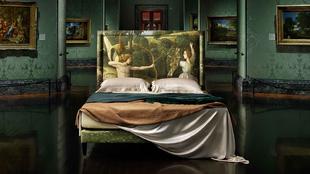 Cama Combat of love chastity de Savoir Beds en colaboración con The...