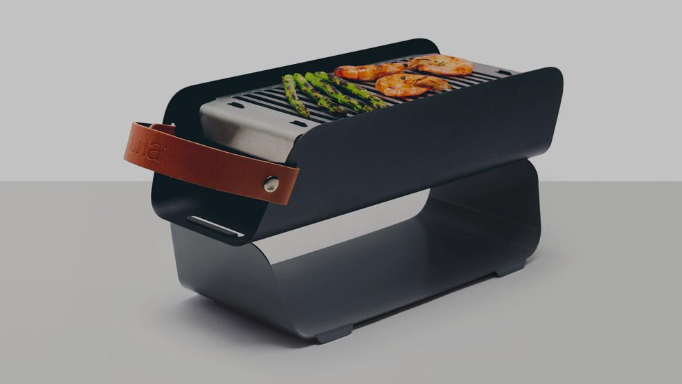 UNA Grill, la barbacoa portátil apta para el lavavajillas diseñada...