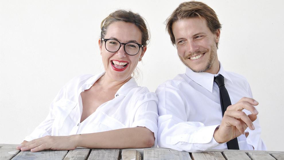"""Inma, con su pareja, Moritz Kefter. """"Es el 50% del estudio, mi..."""