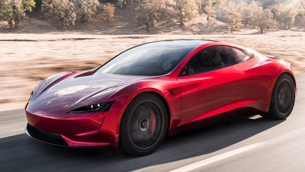 Vista del Tesla Roadster. Puede usar hasta diez propulsores de aire...