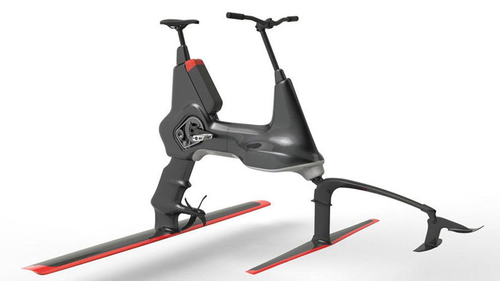 Hydrofoiler XE-1 propone pedalear sobre ríos, lagos y océanos, como...