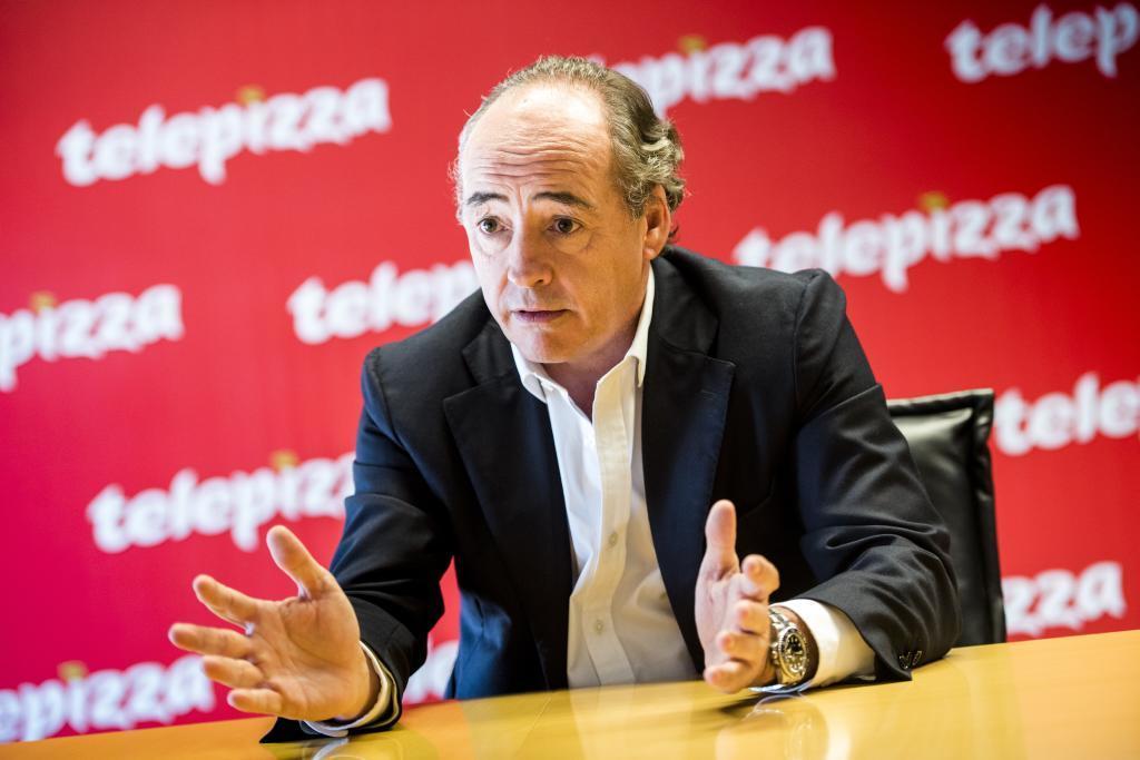 El presidente de Telepizza aseguraba en su primera entrevista tras...