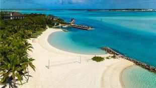 Little Pipe Cay pertenece a las Exuma, la cadena de islas más...