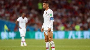 Cristiano Ronaldo, en el reciente Mundial representando a Portugal,...