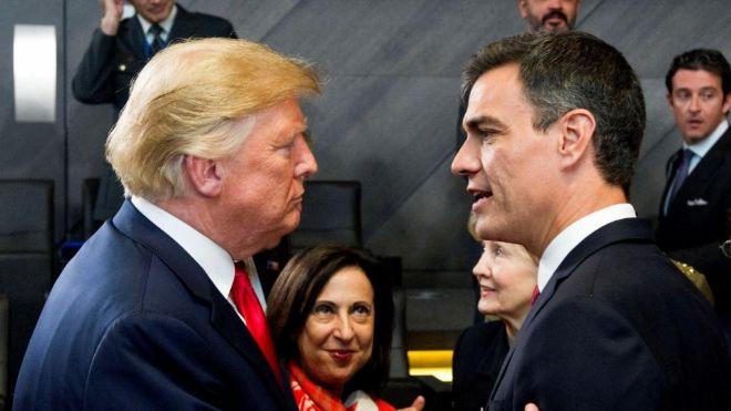 Trump reprocha a Sánchez el bajo gasto militar de España