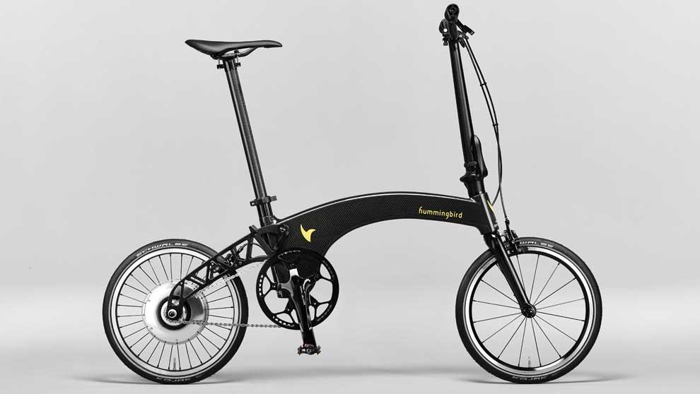 La bicicleta plegable y ligera, de Hummingbird.