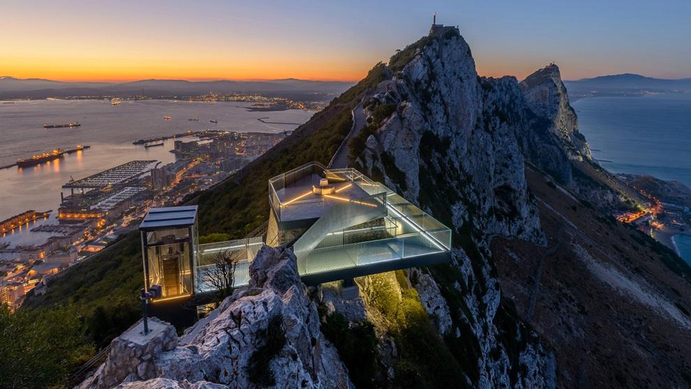 Mirador del Peñón de Gibraltar inaugurado por Luke Skywalker.