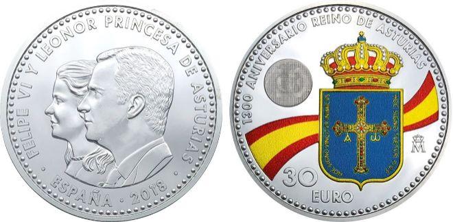 Moneda de 30 euros con polémica