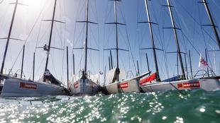 La flota de barcos de la Copa del Rey Mapre, en las instalaciones del...