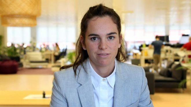 Julia Puig, en la sede de Opportunity Network en la capital catalana,...
