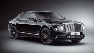 Exterior del Bentley Mulsanne WO Edition en color negro Onyx, que...