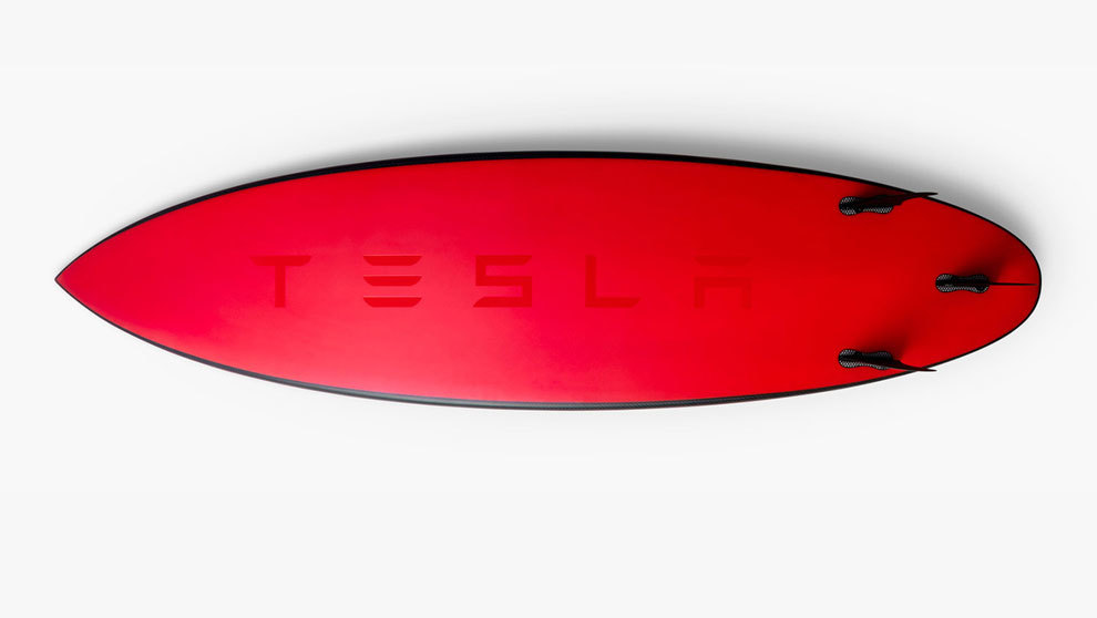 La tabla de surf de Tesla es un verdadero objeto de coleccionista...