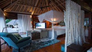 Vista de la habitación de la villa 11 en North Island en Seychelles.