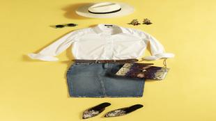 Sombrero, de Zara, precio: 19,95 euros. Gafas, de Bangel, precio: 89...
