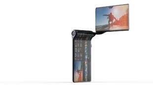 Su pantalla rota 360 grados.