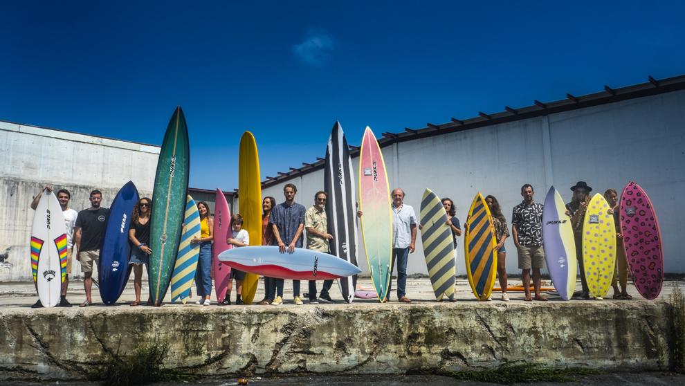 La familia Pukas, miembros de la empresa, en la localidad guipuzcoana...