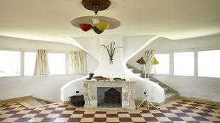 Interior de la torre de vigilancia, sobre un diseño de Frank Lloyd...