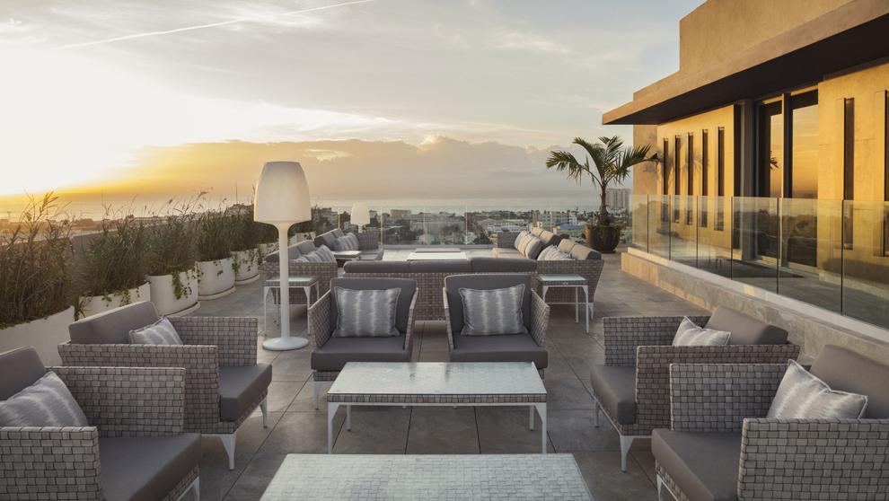 """""""Roof top"""" del Hotel El Embajador, desde donde se ve el mar..."""