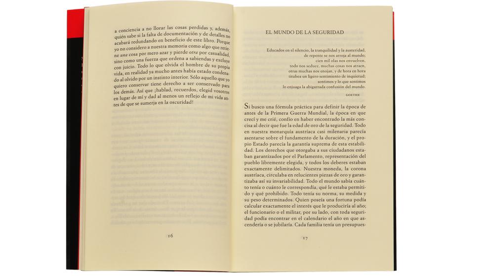 """Un párrafo destacado de """"El mundo de ayer"""", de Stefan..."""