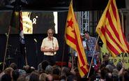 El presidente de la Generalitat, Quim Torra, interviene en el acto de...