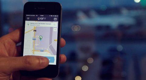 Vista de la aplicación con la que opera Cabify.