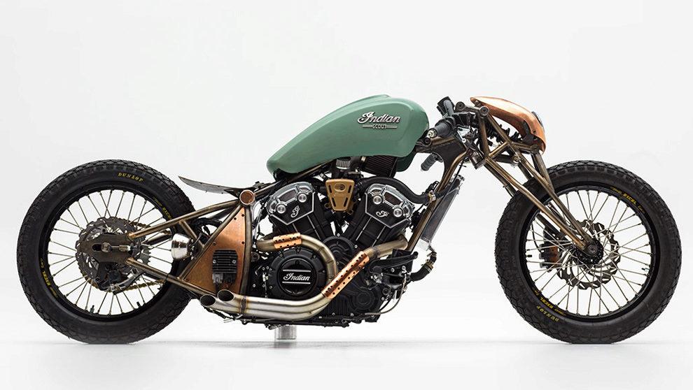 La moto ganadora del concurso Indian Motorcicles 2018, hasido diseñda...