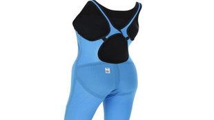 Versión femenina del bañador de Michael Phelps, en color azul neón.