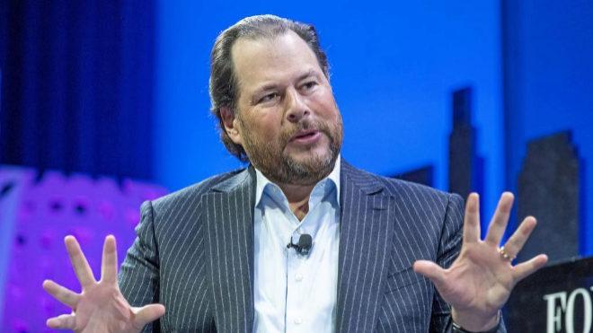 El confundador de la empresa tecnológica Salesforce, Marc Benioff.