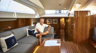 Leonardo Ferragamo, a bordo del maxi yate Solleone, acrónimo de Sole,...